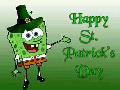 Spongebob Happy St. Patrick's Day. Norman Mills Pediatric Dental Associates in Lombard, IL @ millskidsdds.com