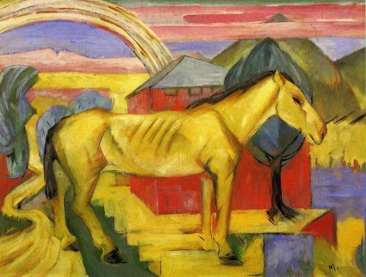 Long Yellow HorsebyFranz Marc Size: 60.01x80.01 cm Medium: oil on canvas