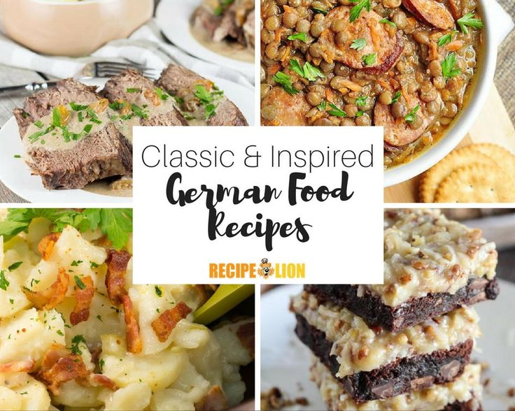 German food is some of the best on the planet. If you're thinking about trying out a new ethnic cuisine, consider some of these great German Food Recipes. These 23 Classic Dishes are hearty, delicious and have stood the test of time.