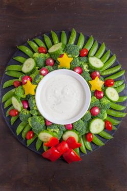 This Veggie Wreath Is A Festive Way To Dress Up Your