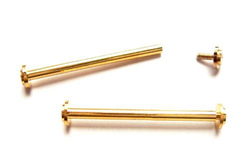 Screw-In Lugs Gold Plated 16 Millimeters for Watch Bands, Buckles