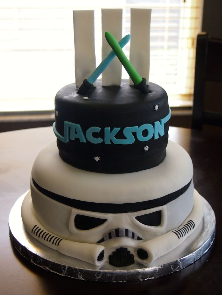 Star Wars Storm Trooper Birthday Cake by Olive Parties