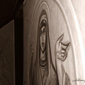 Pictura bisericeasca - pictor Gheorghe Dragu Biserica Ortodoxa Romana CACUCIU VECHI. BIHOR  Pictura interior biserica – tehnica fresca. Pictura icoane iconostas – tehnica tempera.