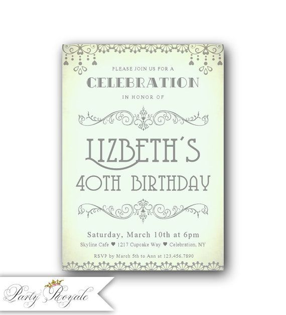 Best 25 40th birthday invitations ideas – Wording for 40th Birthday Invitations