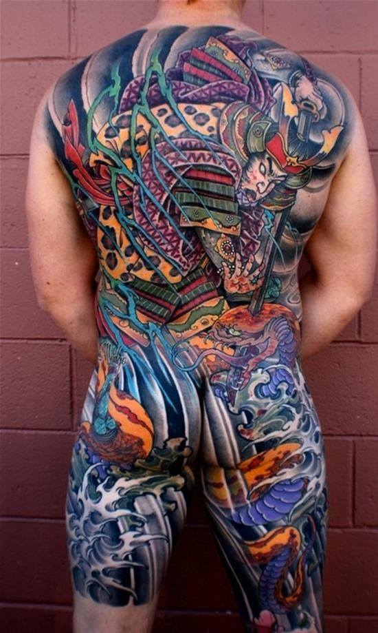 150 Brave Samurai Tattoo Designs And Meanings cool  Check more at http://fabulousdesign.net/samurai-tattoo-design/