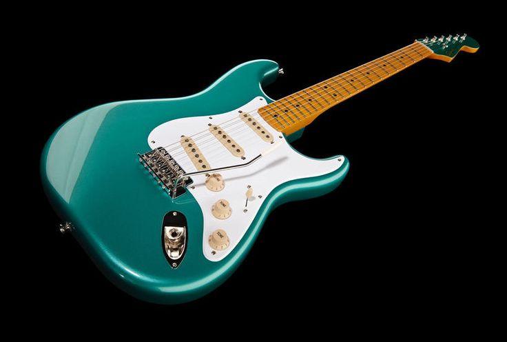 Fender Squier Classic Vibe '50s Strat SWG Electric Guitar, Colour: Sherwood Green Metallic #guitar #fender #thomann