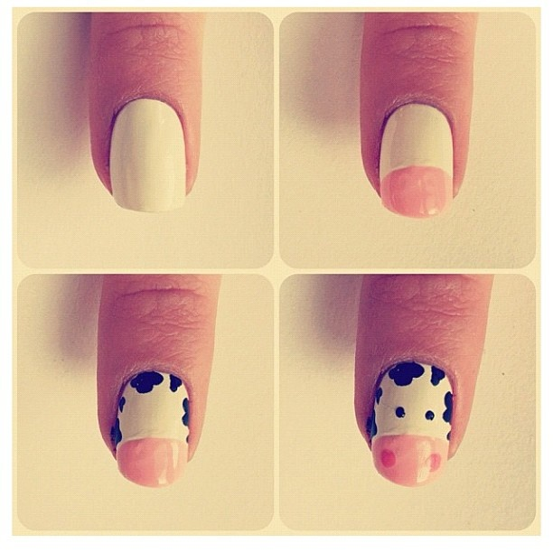 Cow nails...usually not a huge fan of animal print-type things but this is adorable!