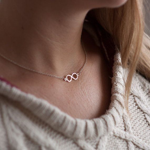 Infinity Necklace  - Sterling Silver Handmade Craft Jewellery - Perfect Womans Gift, Craft Jewelry, Friendship, Love