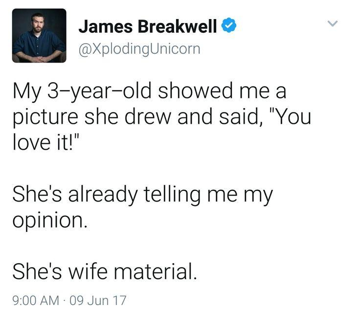 Hahahaha wife material XD