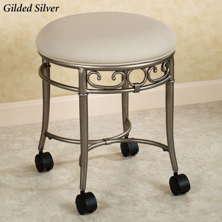 1000 ideas about vanity stool on pinterest bathroom - Bathroom vanity chair with casters ...
