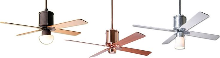 Industry from The Modern Fan Company - a Collection of Ceiling Fans designed by Ron Rezek - Brand Lighting Discount Lighting - Call Brand Lighting Sales 800-585-1285 to ask for your best price!