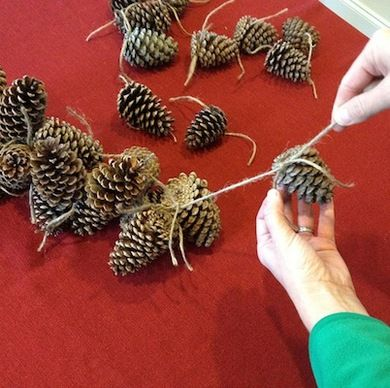 How To: Make a Pine Cone Garland