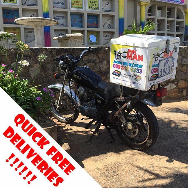 Free deliveries from #Scottburgh to #PortEdward. Call us today (039) 312-1333 | (074)163 2577 amanda@inkman.co.za