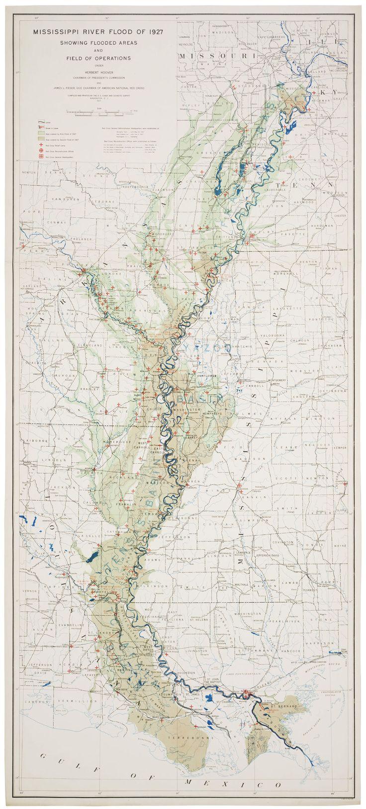 Map: Mississippi River flood of 1927