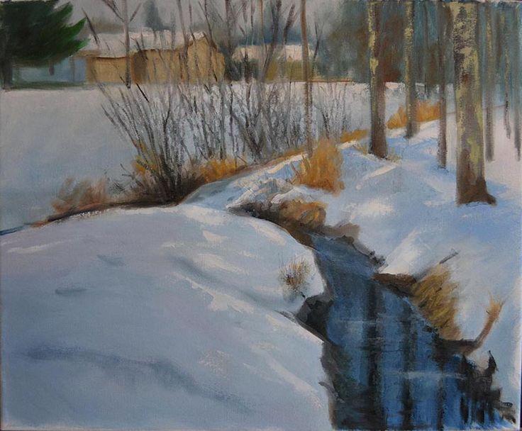 Artist Peter Valve: oil painting on canvas 46x38 cm, 2017.