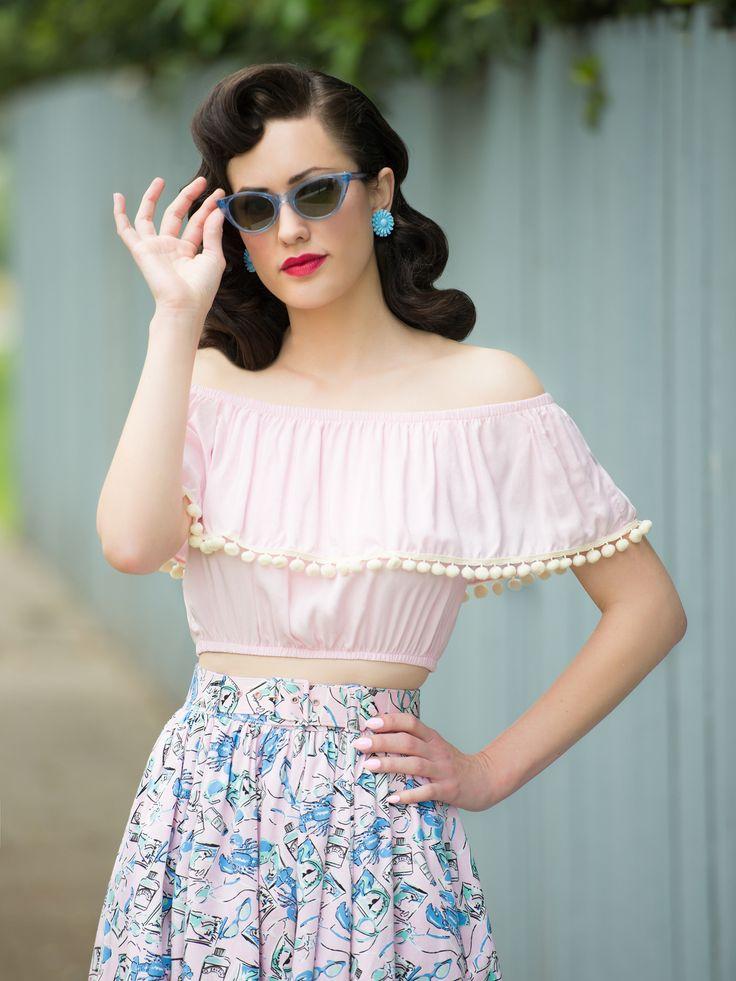 Shimmy Crop, Pink | my closet | Pinterest | Vintage