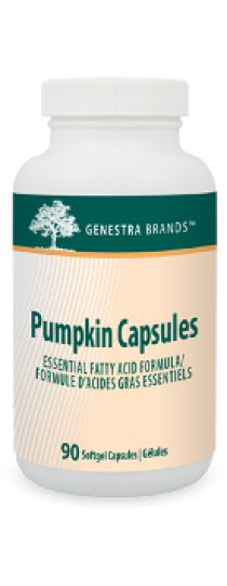 Pumpkin Capsules by Genestra - provides pumpkin seed oil as a source of essential fatty acids for the maintenance of good health.