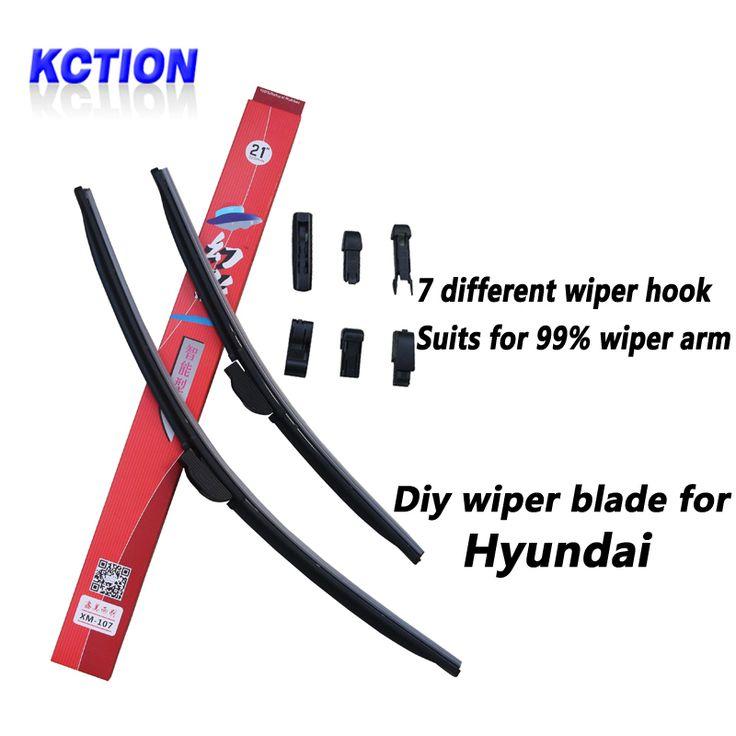 Car Windshield Wiper Blade For Hyundai Solaris,Elantra,Sonata 8,I10,I20,I30,I40,IX20,IX25,IX35,Tucson,Accent,GETZ,Natural rubber