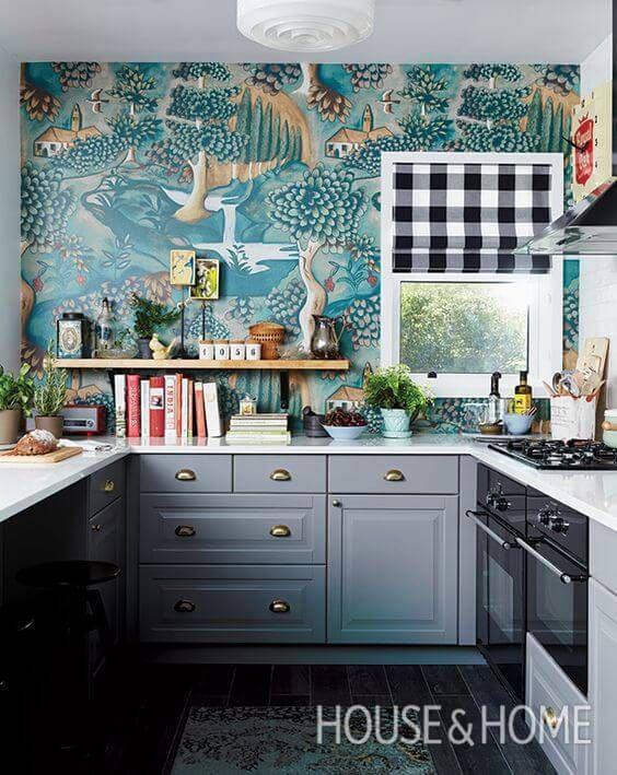 papel de parede para cozinha 56 ideias para renovar o ambiente rh pinterest com modern wallpaper designs for kitchens