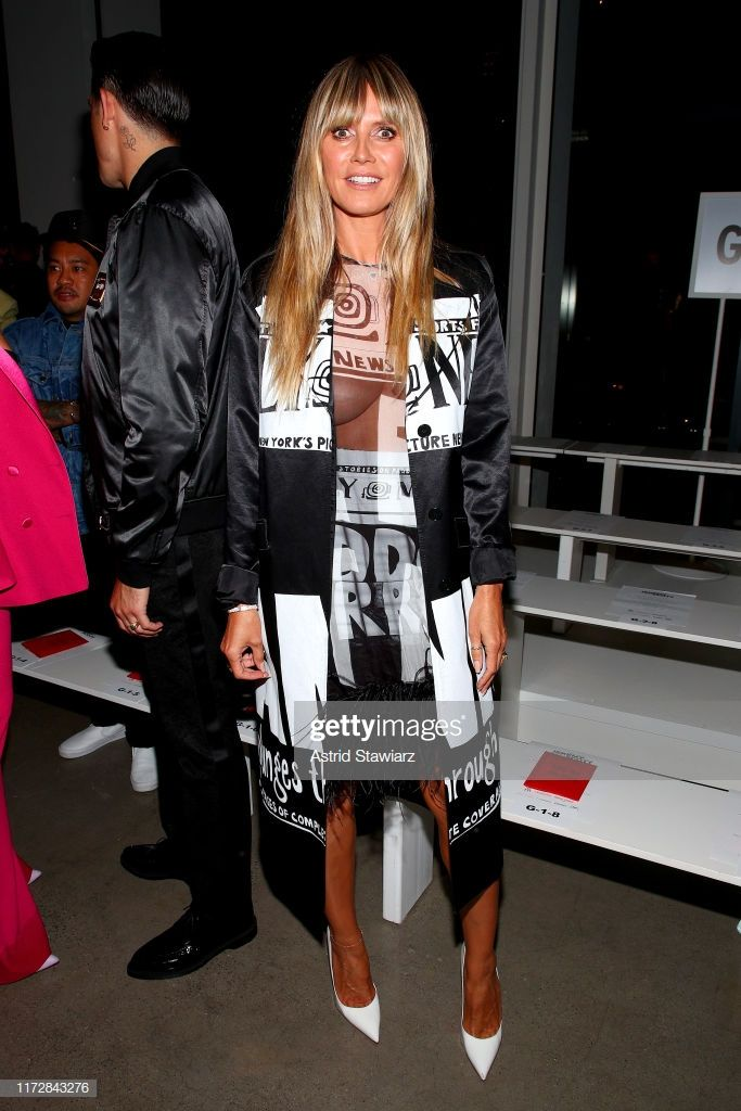 Heidi Klum Attends The Jeremy Scott Front Row During New York Fashion Nyc Fashion Week Heidi Klum New York Fashion