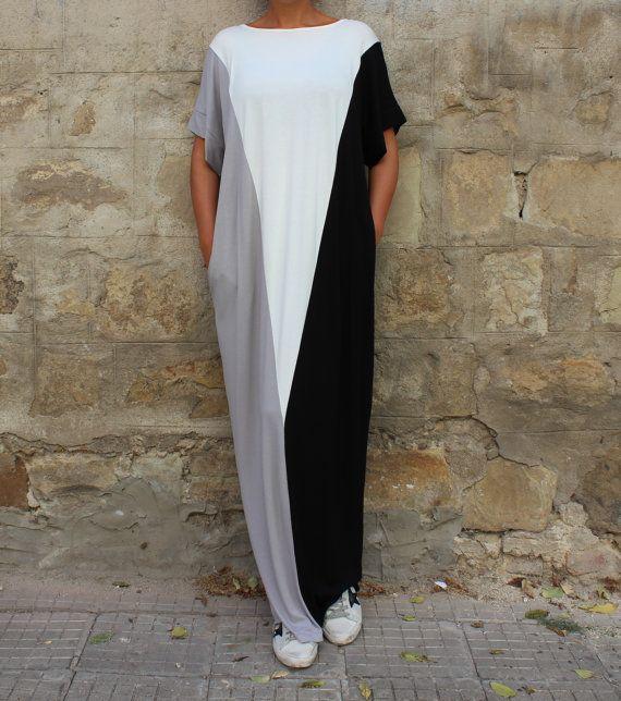 Long black dress/ Maxi dress/ Casual dress/ by cherryblossomsdress