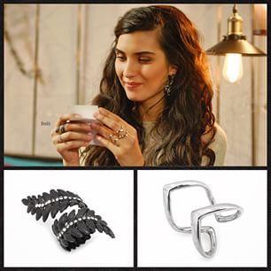 Instagram photo by bendistaki - Acaba Elif'i böyle tatlı gülümseten nedir...? Kara Para Aşk yeni bölümde göreceğiz..❤️❤️ Let's see whats making Elif smile in such a pretty way...All at the new episode of #karaparaask on wednesday!! All Elif's #jewelry at bendistaki.com!!  #Bendis #bendistakı #gümüş #vendetta #yüzük #siyah #sarmaşık veeee en yenimiz #siyah #taşlı #çiçek #küpe hepsi #Lidyana'da Bendis markamızda!! @lidyanacom #kpa #karaparaaşk #instafashion #trend #style #black #ivy #ring…