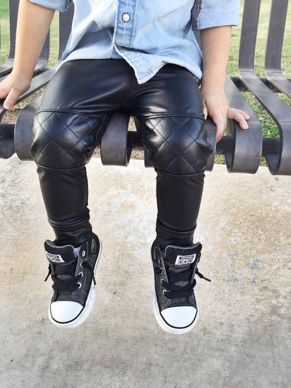 Faux leather baby leggings/ Trendy baby boy clothes / Trendy baby clothes / Hipster baby boy leggings / Hipster Baby boy clothes / Boy Pants