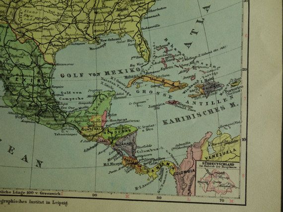 131 best old maps america images on pinterest antique maps old 1923 north america map of the us canada and mexico original old map about american continent caribbean alaska vintage maps old look sciox Image collections