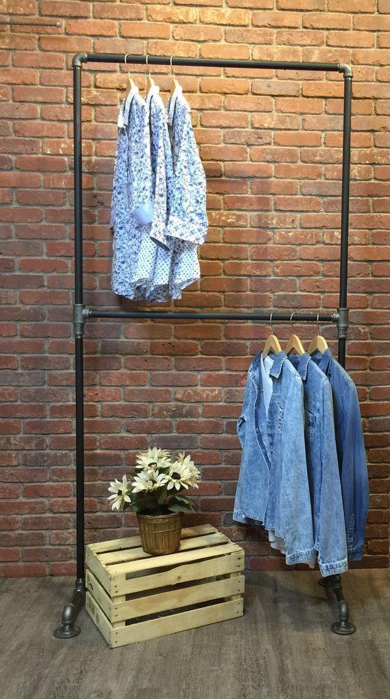 die besten 25 pipe rack ideen auf pinterest eisenrohrregale kleiderst nder und diy rohrregale. Black Bedroom Furniture Sets. Home Design Ideas