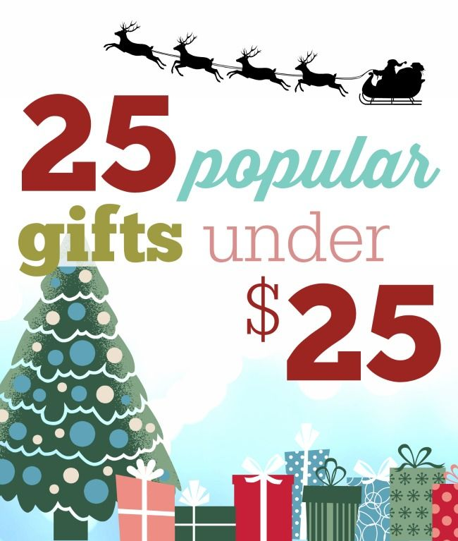 Looking for gift ideas for her, for him and for the family as well as the kids?  Here's 25 of the most popular gifts under 25 dollars!