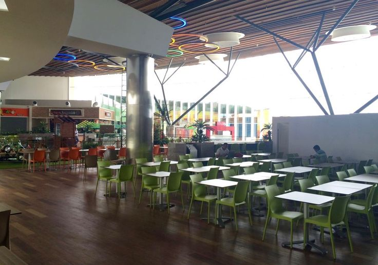 It's a brand new project: IRIS chair, PANAMA stool and BG3L tables has been selected for this food court. An enormous space, inside one of the biggest shopping center in Central America, cleverly furnished with our design products. www.gaber.it  #interiordesign #contractfurniture #foodcourt #gaberdesign