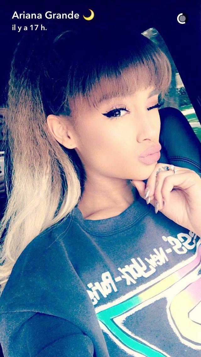 Ari Ariana grande snapchat