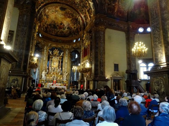Mass service in Parma, Italy