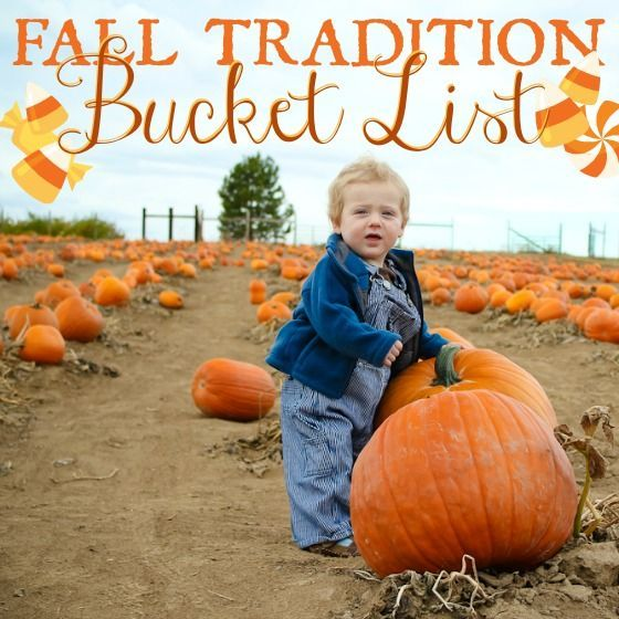 Fall Tradition Bucket List! Will you try these fall activities with your kids?