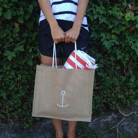 Nautical Jute Bag