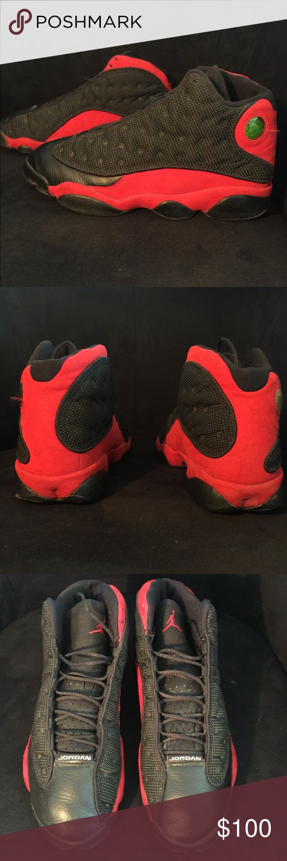 O.G. (Original release) Nike Air Jordan bred 13s These are the originals from the release in 1998 in good condition! Black and red aka BRED 13s from Nike Air Jordan. Size 11.5 in men Jordan Shoes Sneakers