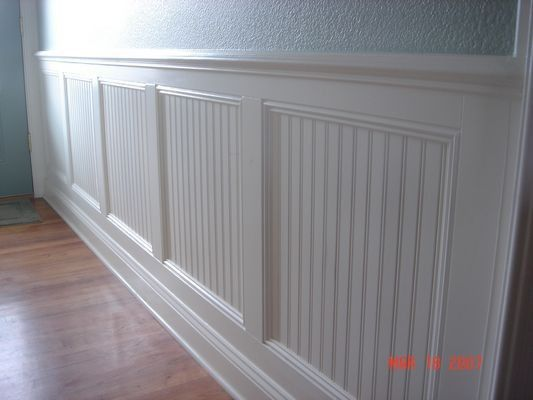 Love the texture with the wainscoting. This is what needs to be done at our house.