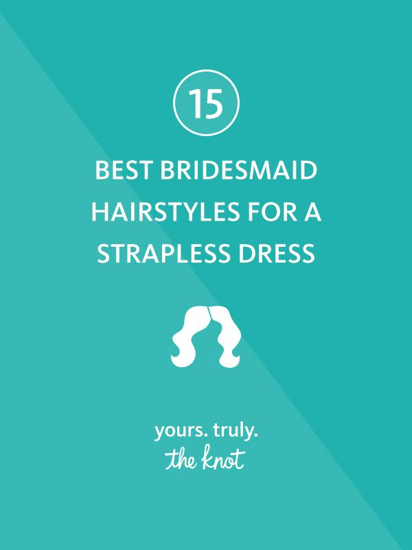 Style a strapless wedding gown with a simple and loose hairstyle to accentuate that neckline.
