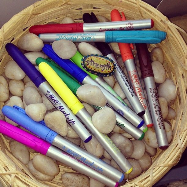 Inspiration/Strenth Stones: students write a word such as peacefulness, calm, breathe, it's okay... whatever they need to remind themselves of and can then carry it in their pocket/backpack to remind themselves