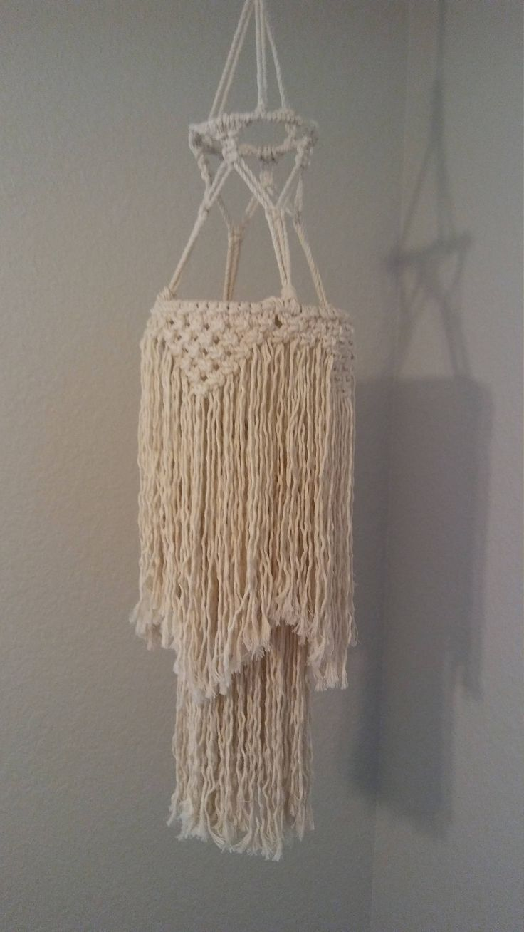 Macrame Chandelier Hanging Home Decor Cotton By Modishknot On Etsy