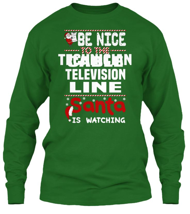 Be Nice To The Cable Television Line Technician Santa Is Watching.   Ugly Sweater  Cable Television Line Technician Xmas T-Shirts. If You Proud Your Job, This Shirt Makes A Great Gift For You And Your Family On Christmas.  Ugly Sweater  Cable Television Line Technician, Xmas  Cable Television Line Technician Shirts,  Cable Television Line Technician Xmas T Shirts,  Cable Television Line Technician Job Shirts,  Cable Television Line Technician Tees,  Cable Television Line Technician Hoodies…