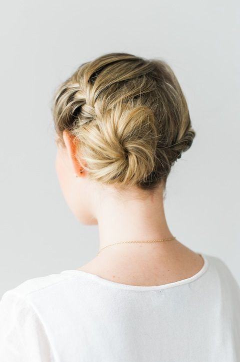 braided bun tutorial /