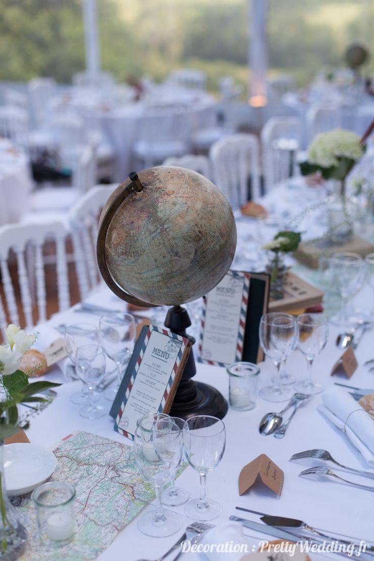 Une décoration de mariage autour du voyage – Joli mariage – Shower