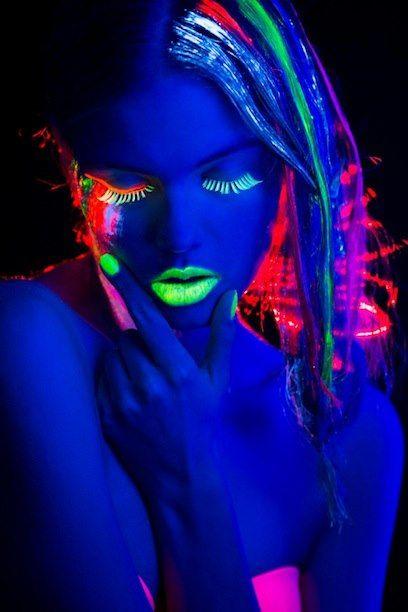 Black Light Makeup.