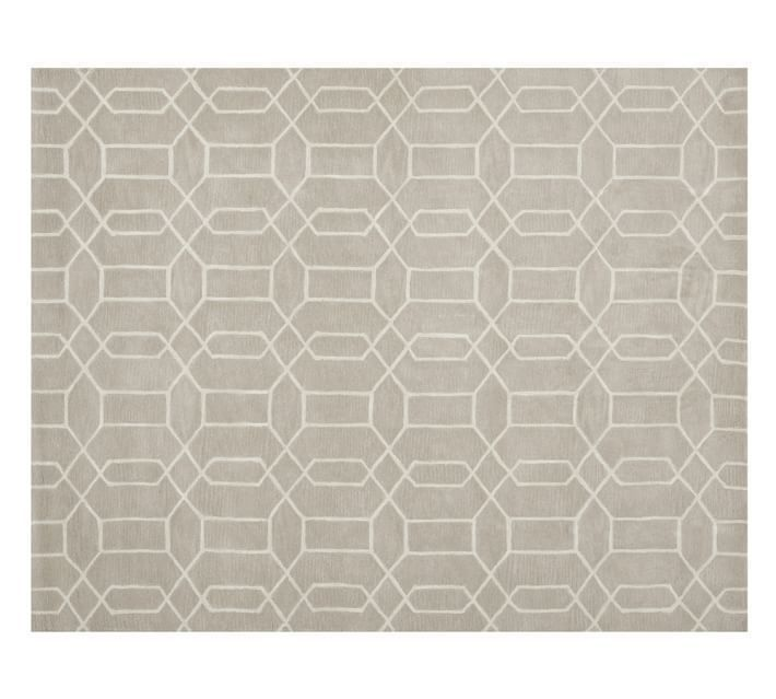 Pottery Barn Reed Rug 5 x 8 Brand New Authentic with tags tufted wool #PotteryBarn