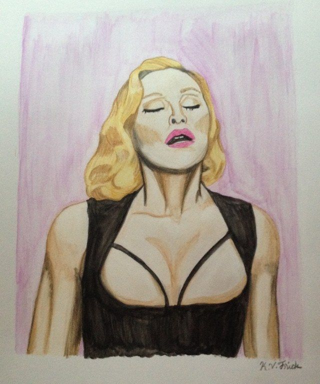 Madonna - Interview Magazine, watercolor by K.v. Frick