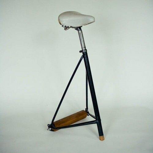 jerome-pierre - selle-de-bicyclette Tabouret bicycle seat as chair