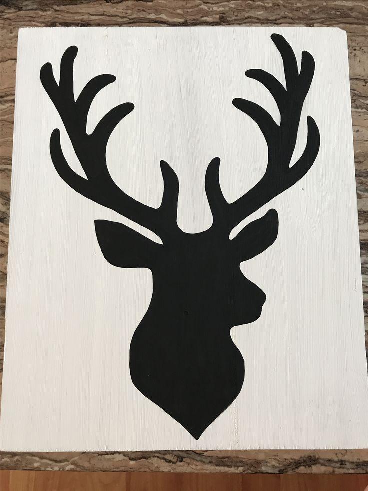 Wood sign, buck, home decor