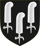 """The Black Prince's """"shield for peace"""" probably used when jousting."""