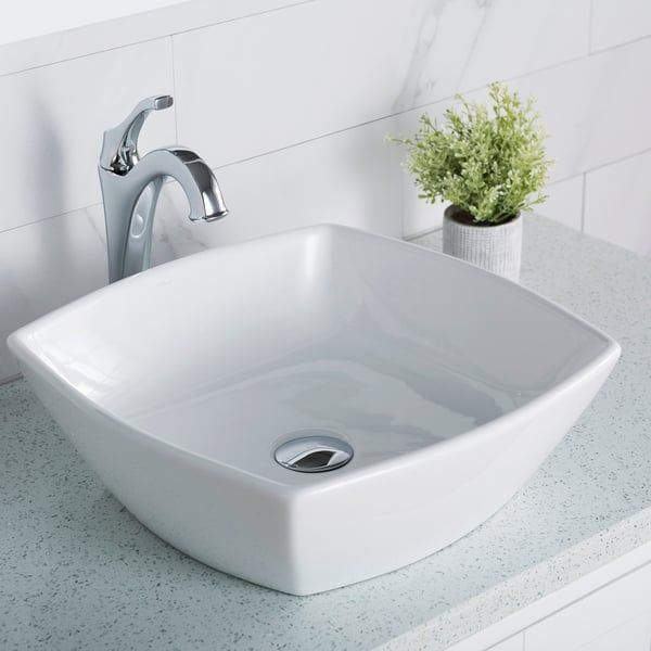 Overstock Com Online Shopping Bedding Furniture Electronics Jewelry Clothing More In 2020 Square Bathroom Sink Ceramic Bathroom Sink Drop In Bathroom Sinks